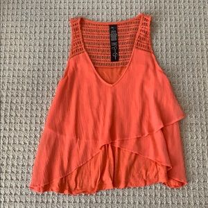 Cropped Coral Tank Top